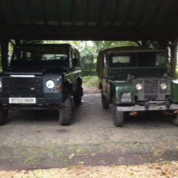 two old land rovers